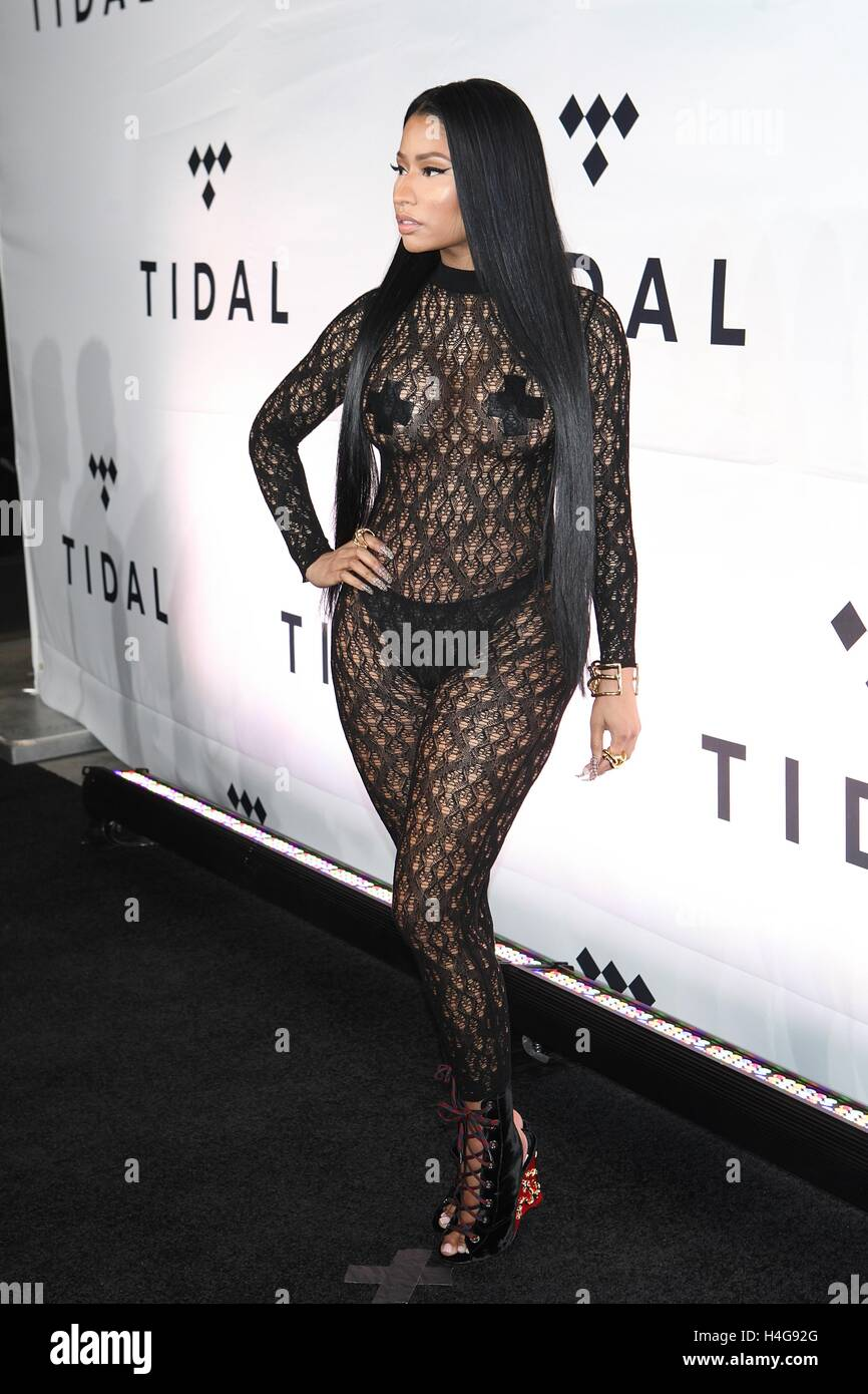 New York, NY, USA. 15th Oct, 2016. Nicki Minaj attends TIDAL's Second Annual Philanthropic Festival, TIDAL X: - Stock Image