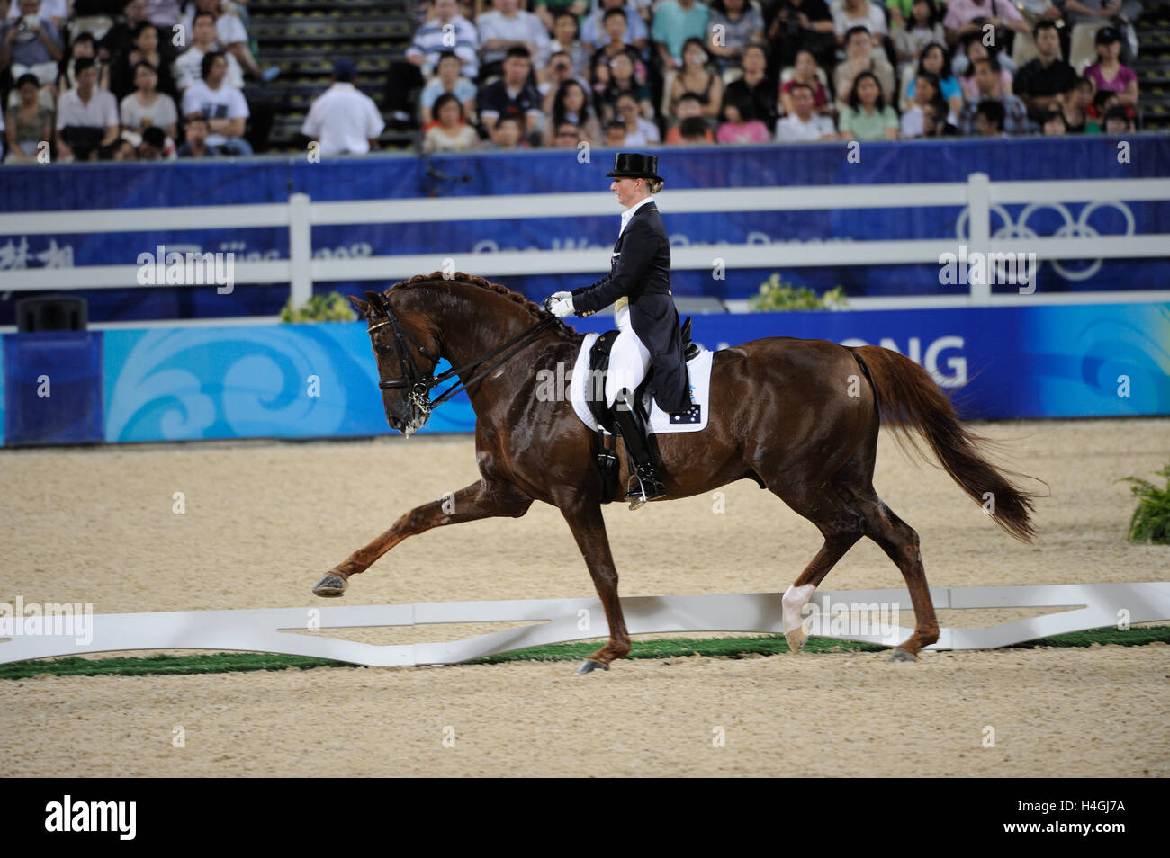 Olympic Games 2008, Hong Kong (Beijing Games) August 2008, Kristy Oatley-Nist (AUS) riding Quando-Quando, Grand - Stock Image
