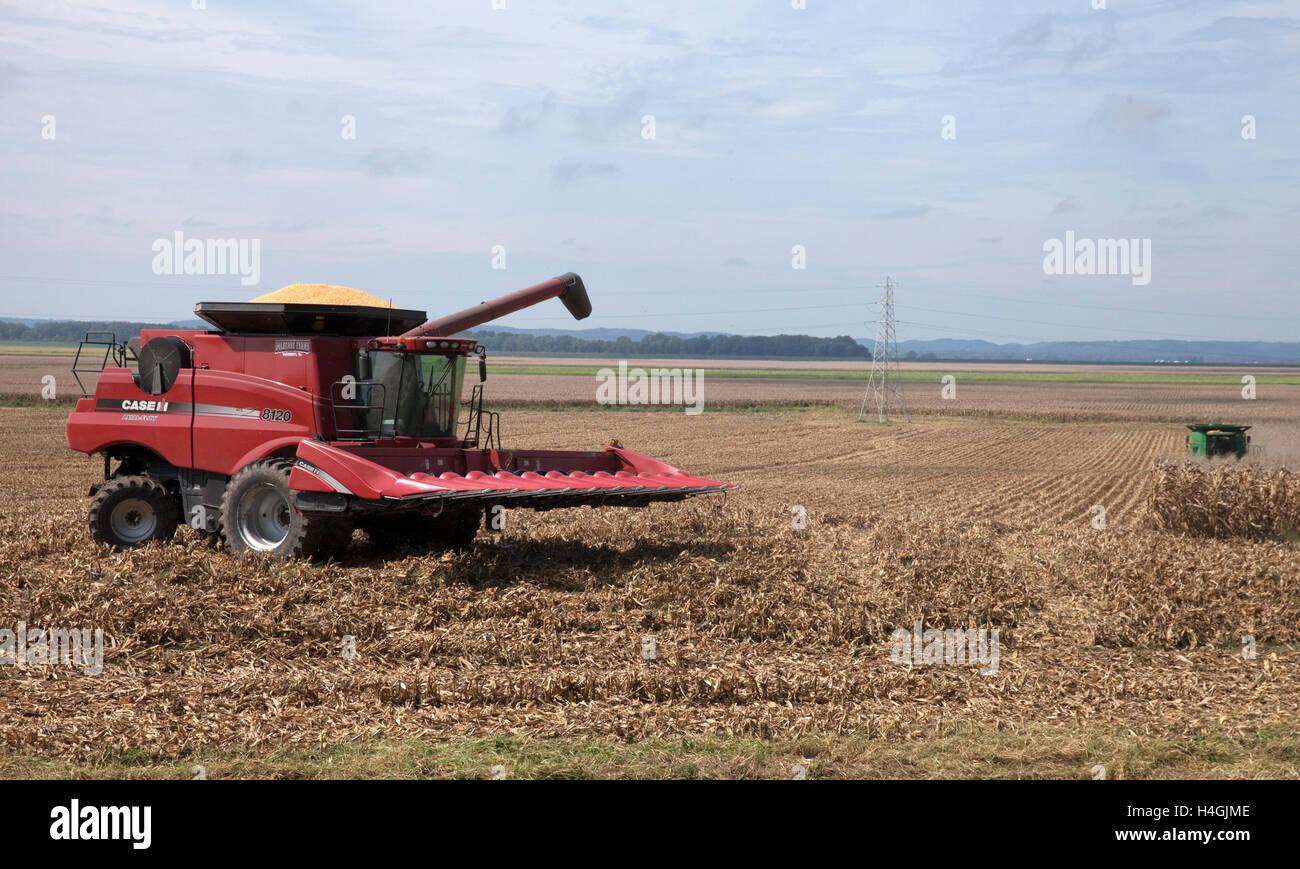 'Corn Harvester #2' Southern Illinois - Stock Image