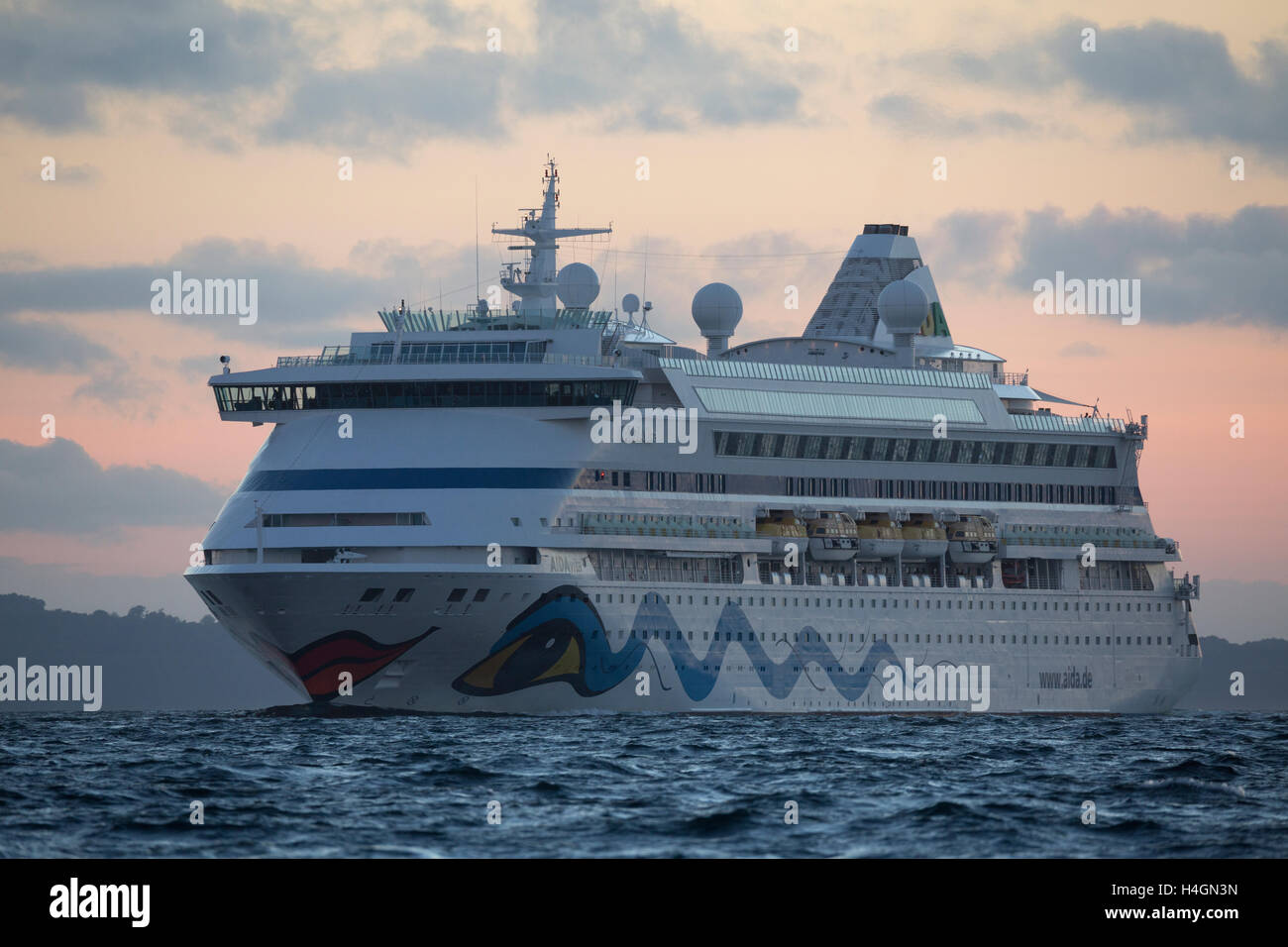 The cruise ship AIDA VITA. - Stock Image