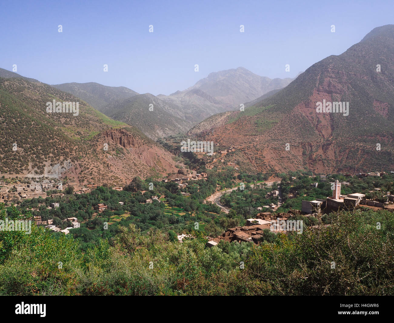 Ourika Valley in Atlas Mountains - Stock Image