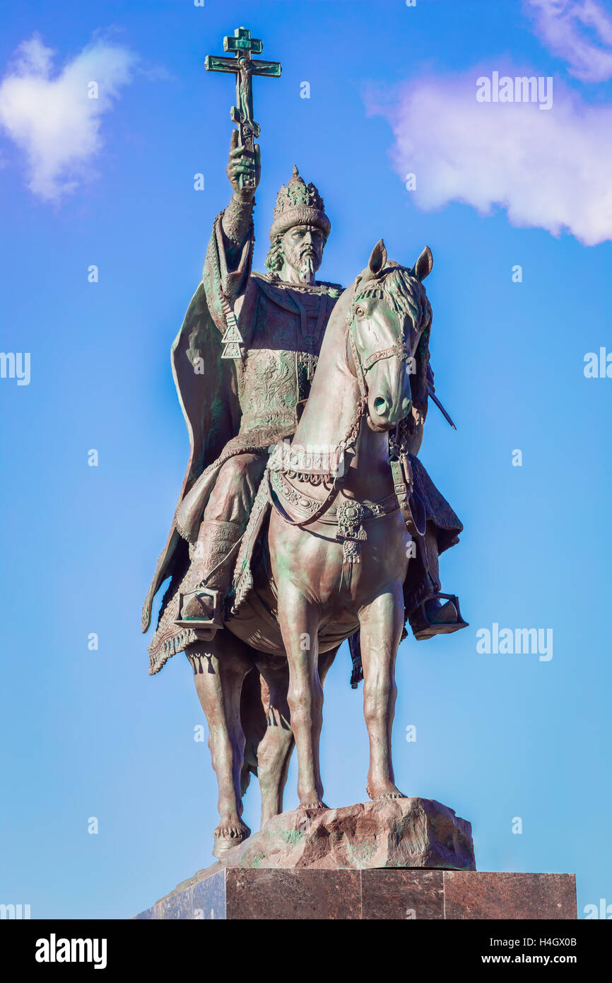 Tsar Ivan Terrible monument in Oryol Stock Photo
