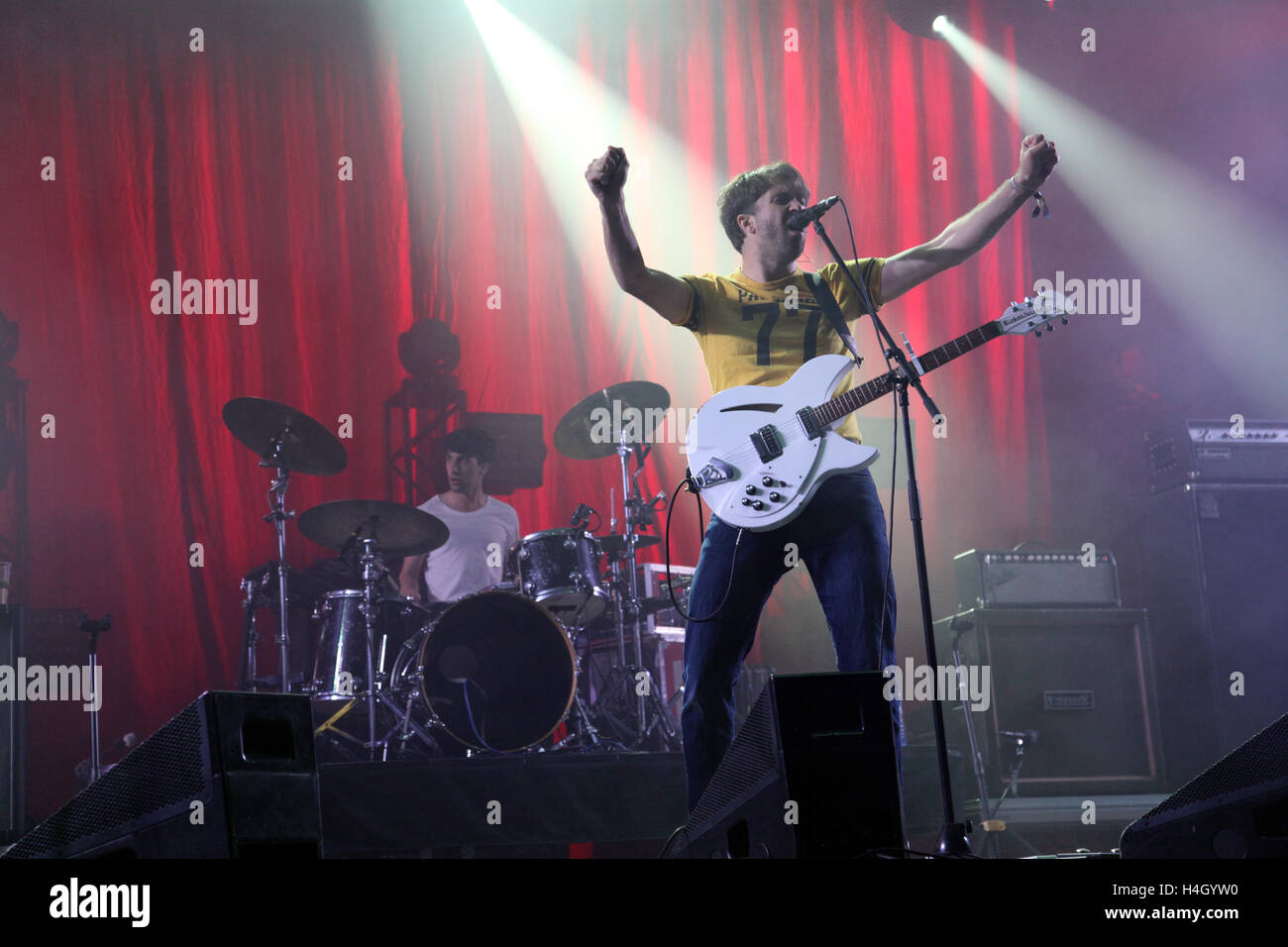 English indie rock band The Vaccines performs at the Colours of Ostrava music festival, Czech Republic, 17 July - Stock Image