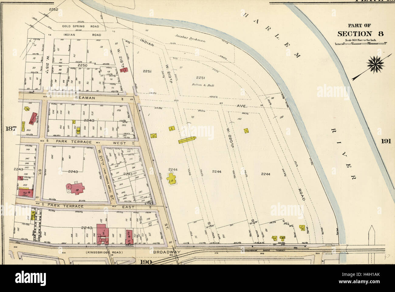 Plate 189: Bounded by Cold Spring Road, Indian Road Harlem ...