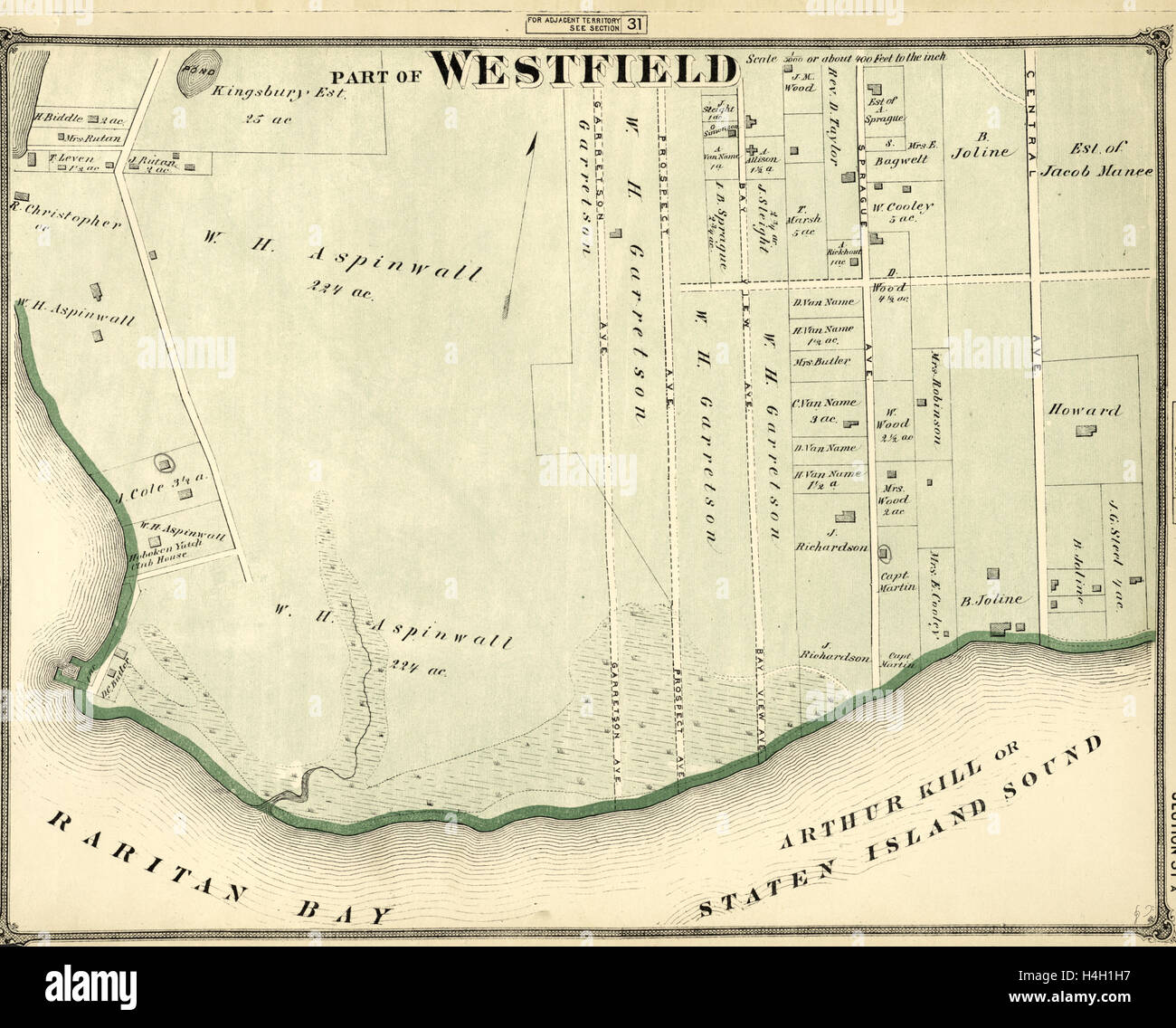 Part of Westfield, New York, USA - Stock Image