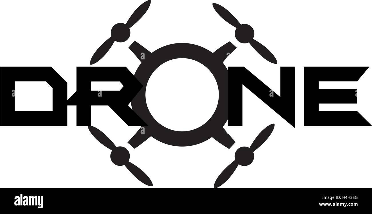 Drone Logo Concept Design. AI 10 Supported. - Stock Image