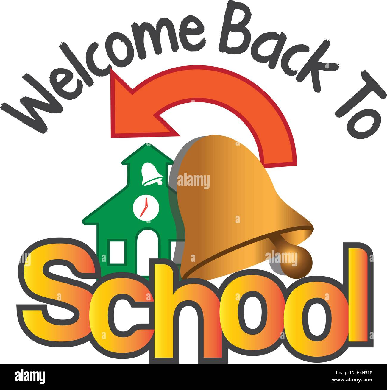 welcome back to school stock vector art illustration vector image rh alamy com welcome back to school teachers clipart welcome back to school banner clipart