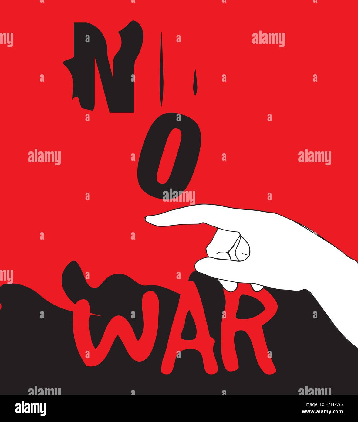 No War Poster Design, AI 10 supported. - Stock Vector
