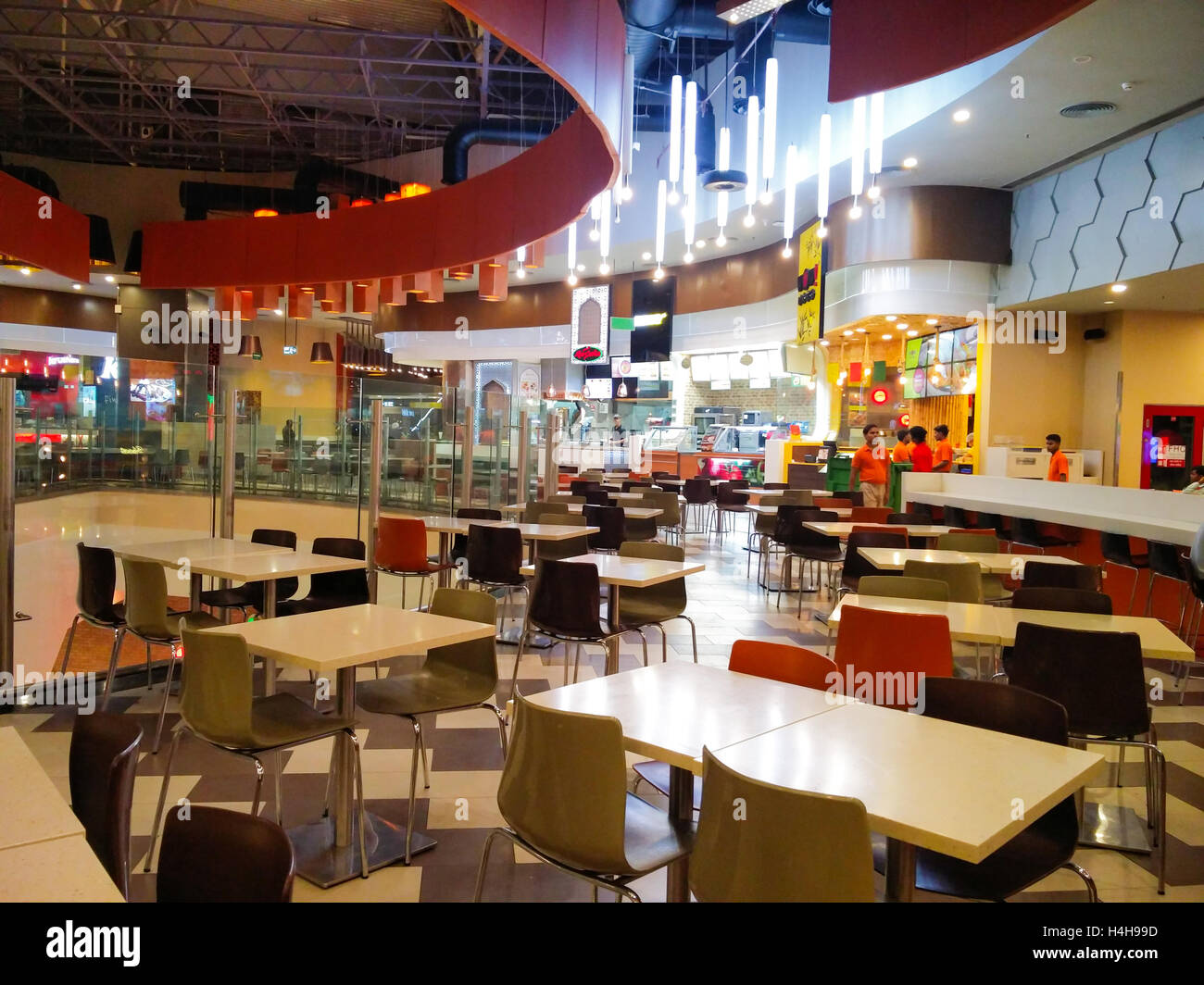 Noida, India - 12oct 2016 : Food court at the Mall of India