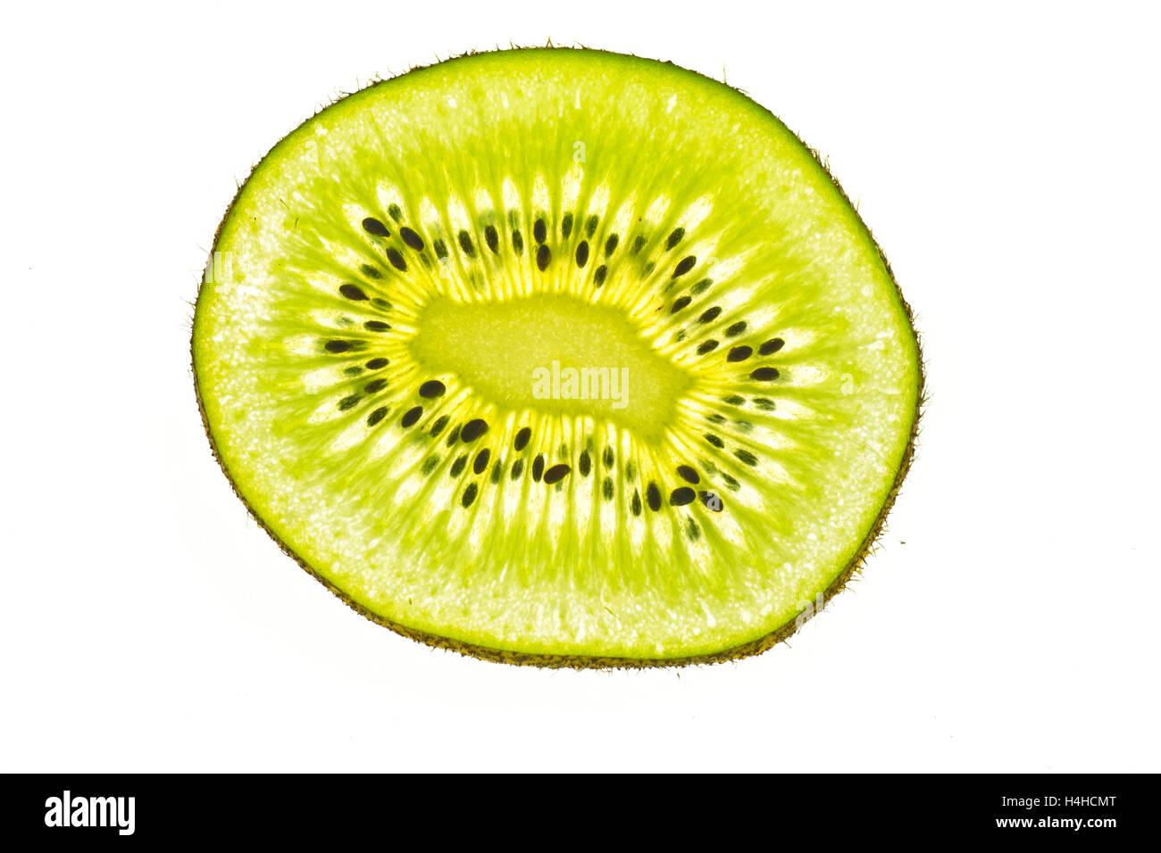 A bright kiwi slice - Stock Image