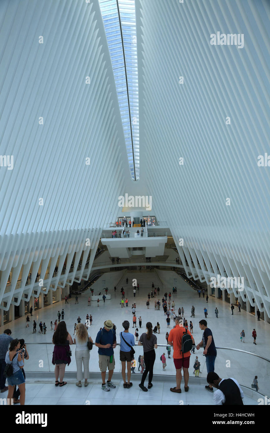 New Westfield WORLD TRADE CENTER Mall, Lower Manhattan, New York, USA - Stock Image