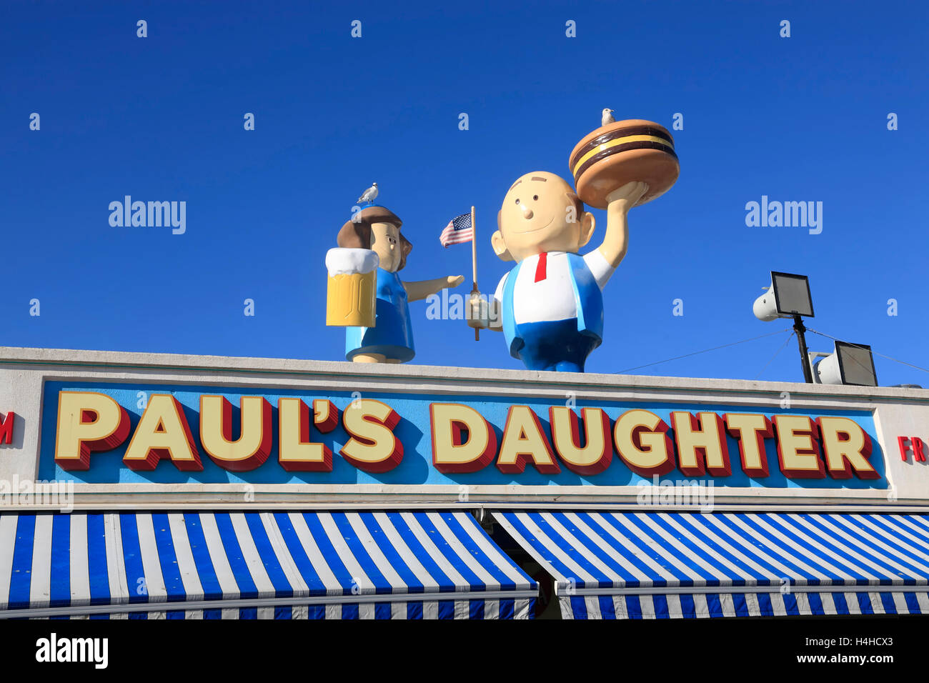 Paul's Daugther snack bar, Coney Island Boardwalk, Brooklyn, New York, USA - Stock Image