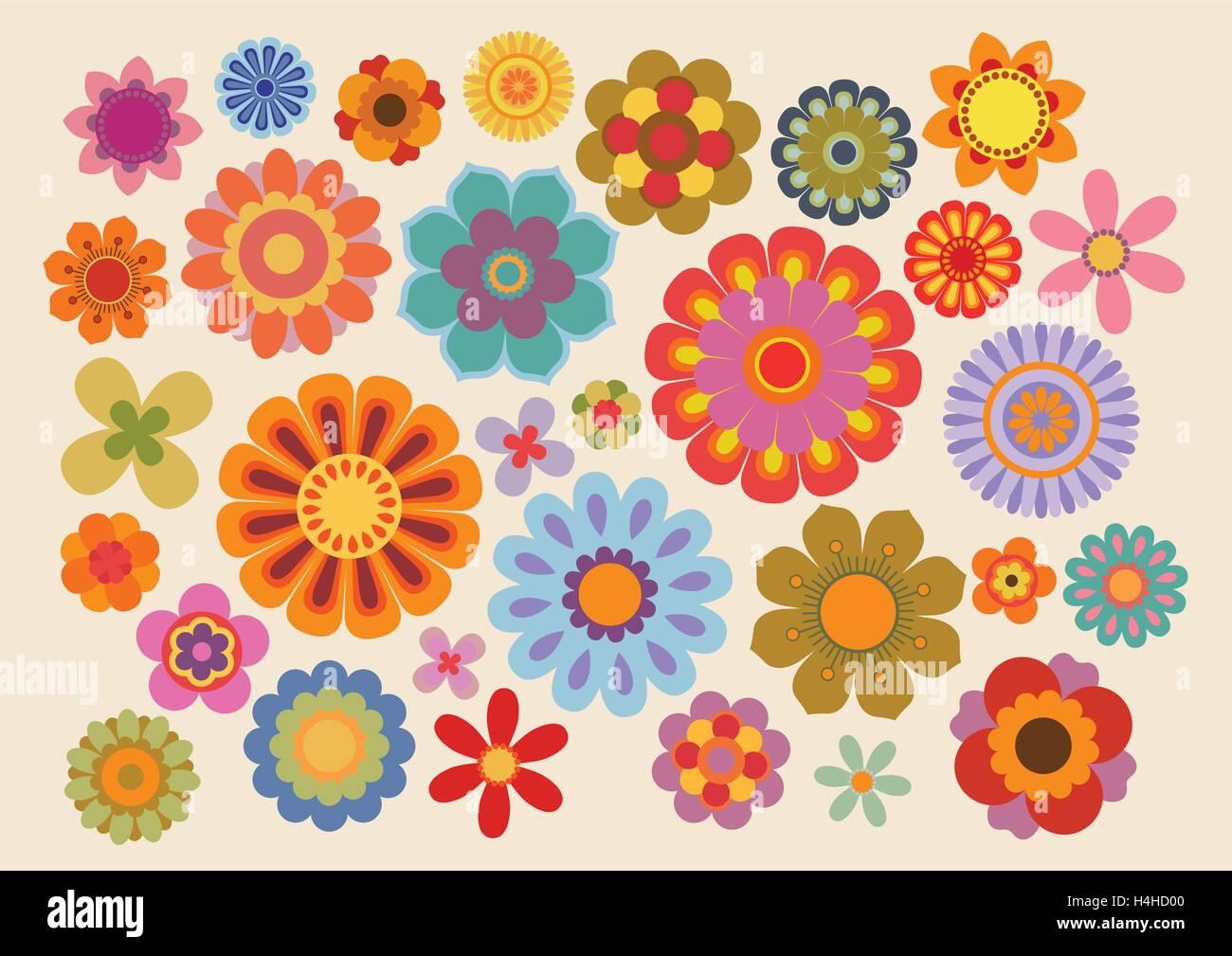 Vintage flowers (part 5) - Stock Image