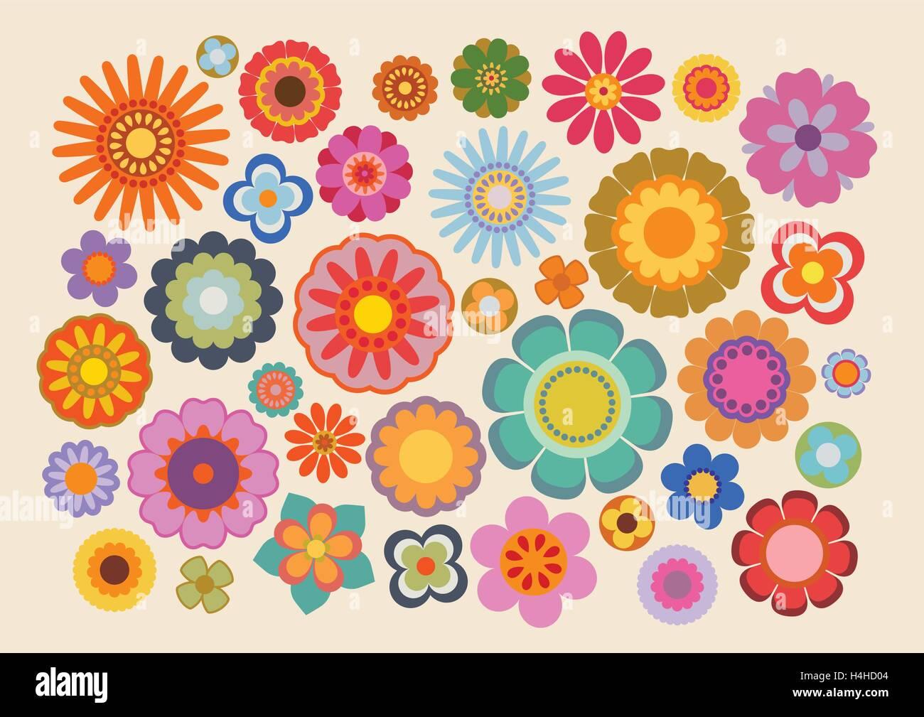 Vintage flowers (part 4) - Stock Image