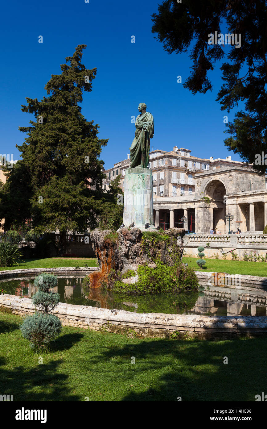 Statue in Corfu, Greek Ionian Islands, Greece Stock Photo