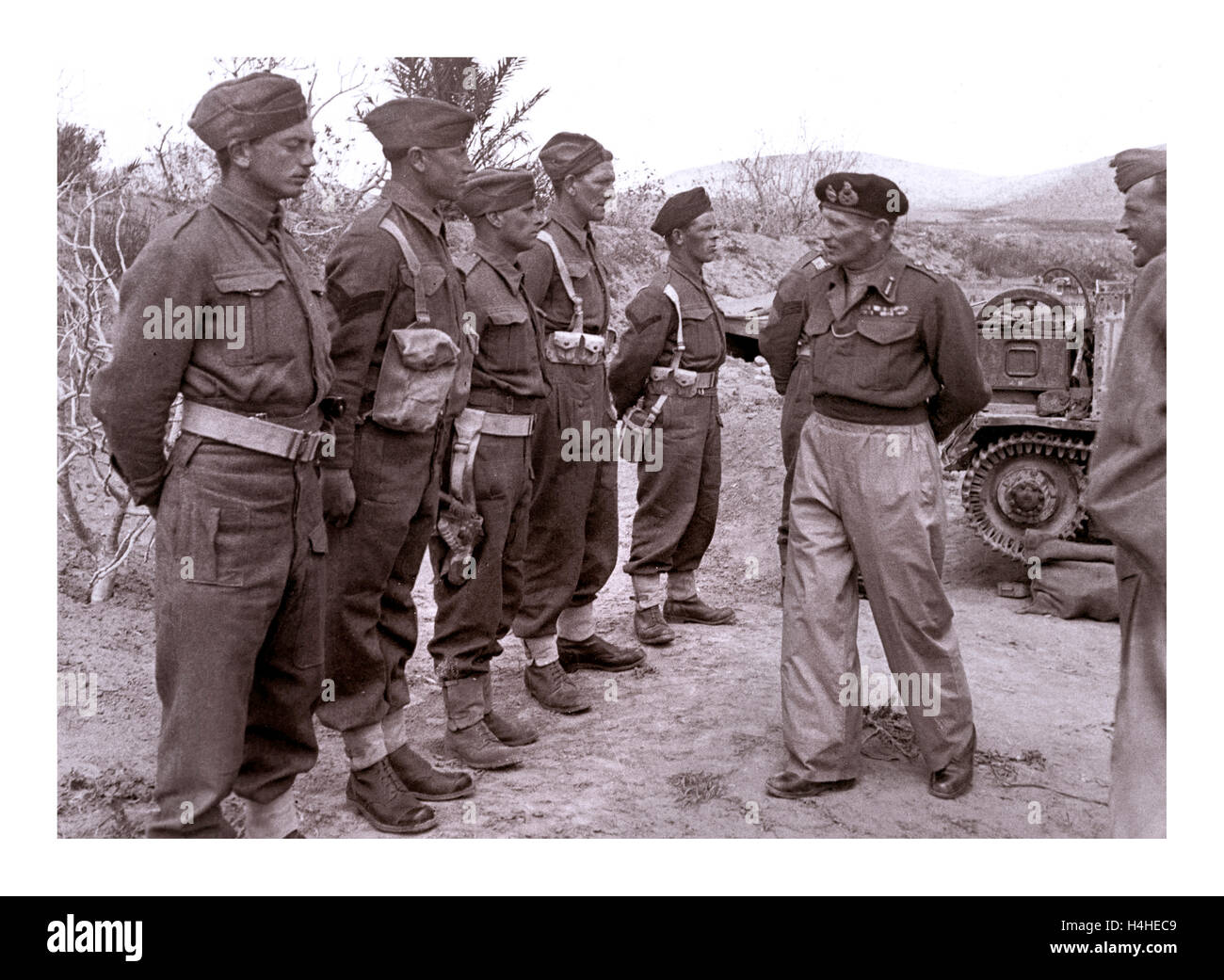 Field Marshall Bernard Montgomery, the hero of El Alamein and North Africa, one of the most inspirational military - Stock Image