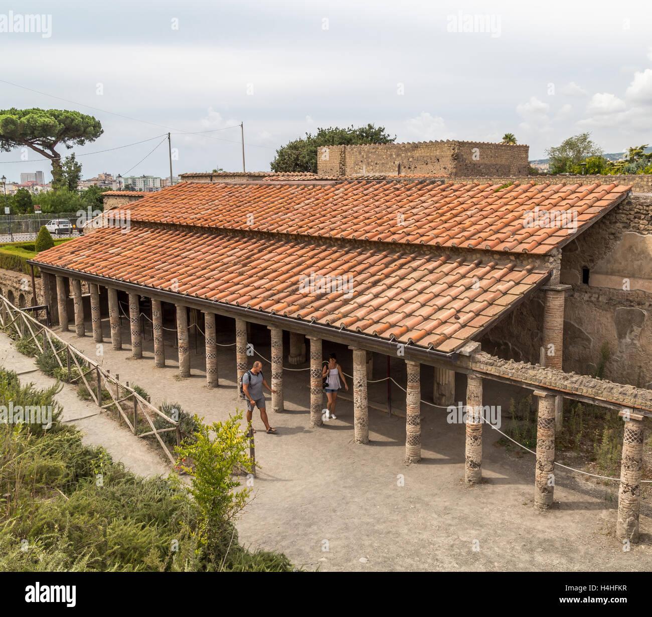 The Villa of the Mysteries, Pompeii, Italy - Stock Image