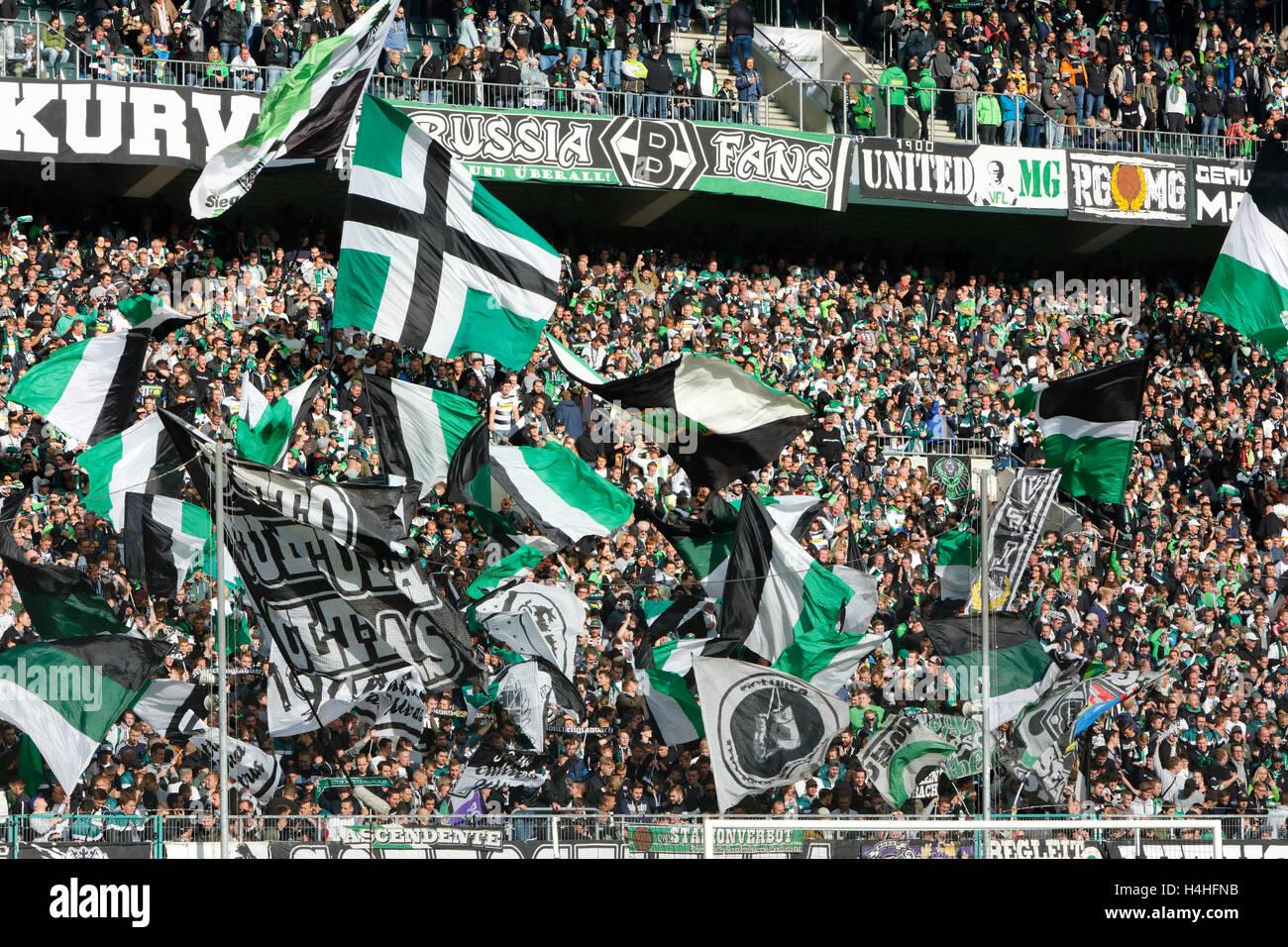 sports, football, Bundesliga, 2016/2017, Borussia Moenchengladbach versus Hamburger SV 0:0, Stadium Borussia Park, Stock Photo