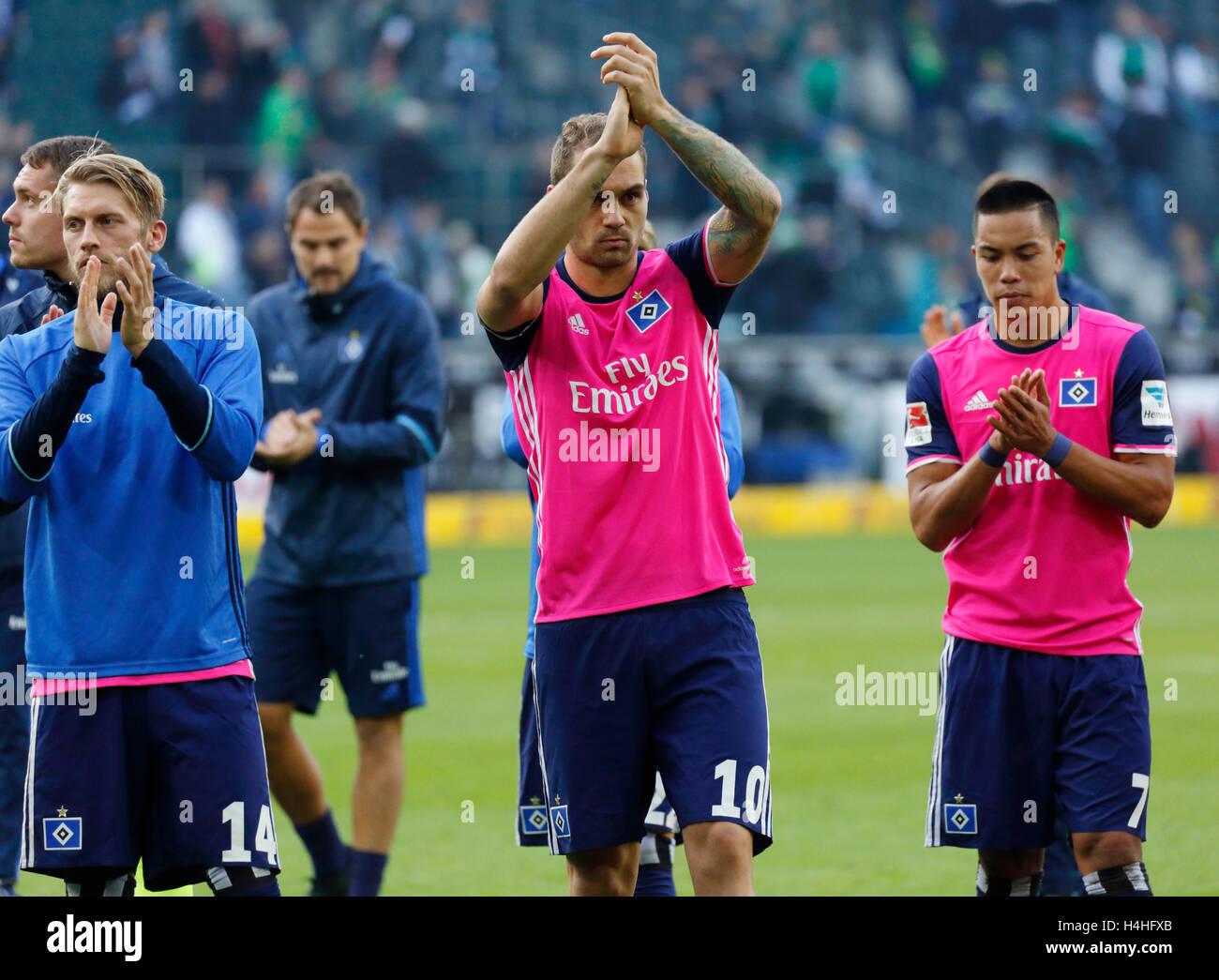 sports, football, Bundesliga, 2016/2017, Borussia Moenchengladbach versus Hamburger SV 0:0, Stadium Borussia Park, - Stock Image