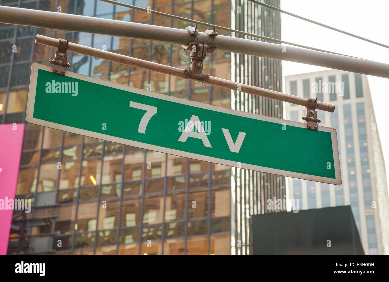 Seventh avenue sign in New York City Stock Photo