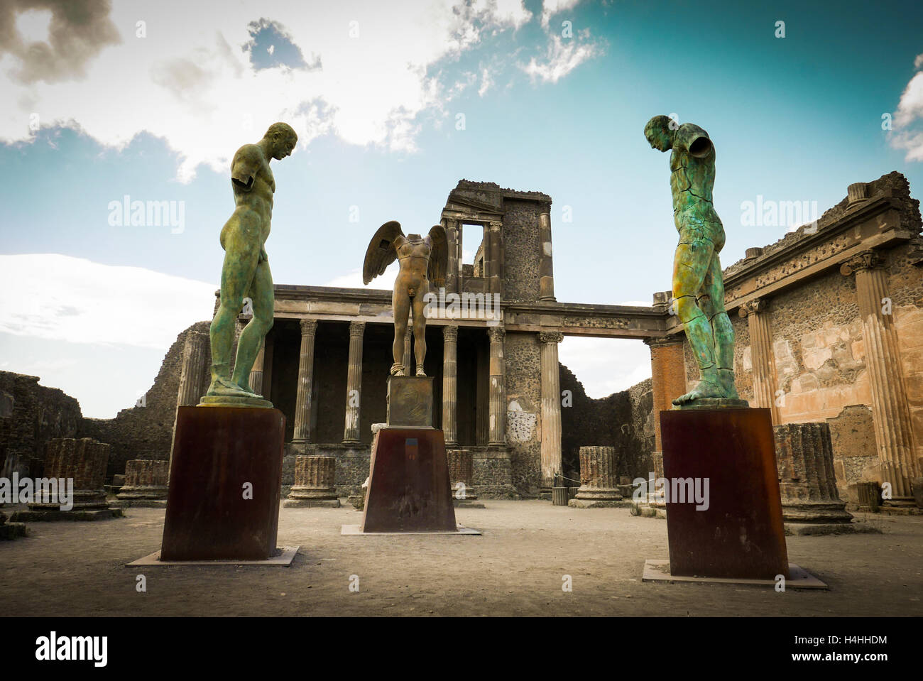 Statue in Pompeii, Italy - Stock Image