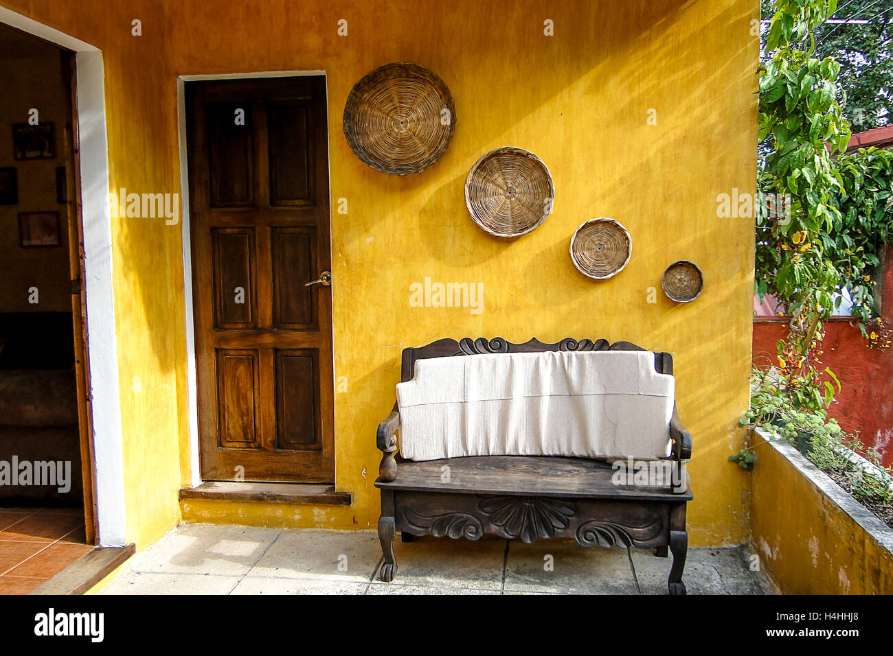 Hanging Plant In Guatemala Antigua Stock Photos & Hanging Plant In ...