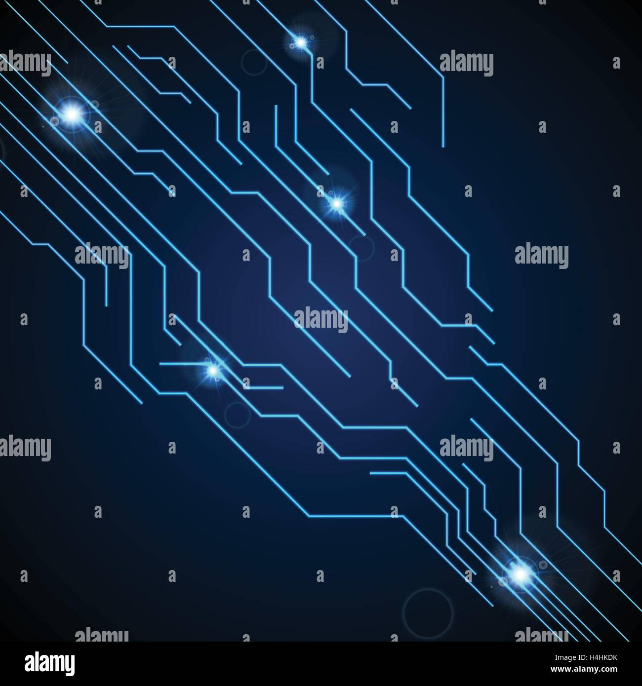 Blue Circuit Board Schematic Manual Guide Wiring Diagram Symbols Dark Technology Background Vector Graphic Design Rh Alamy Com
