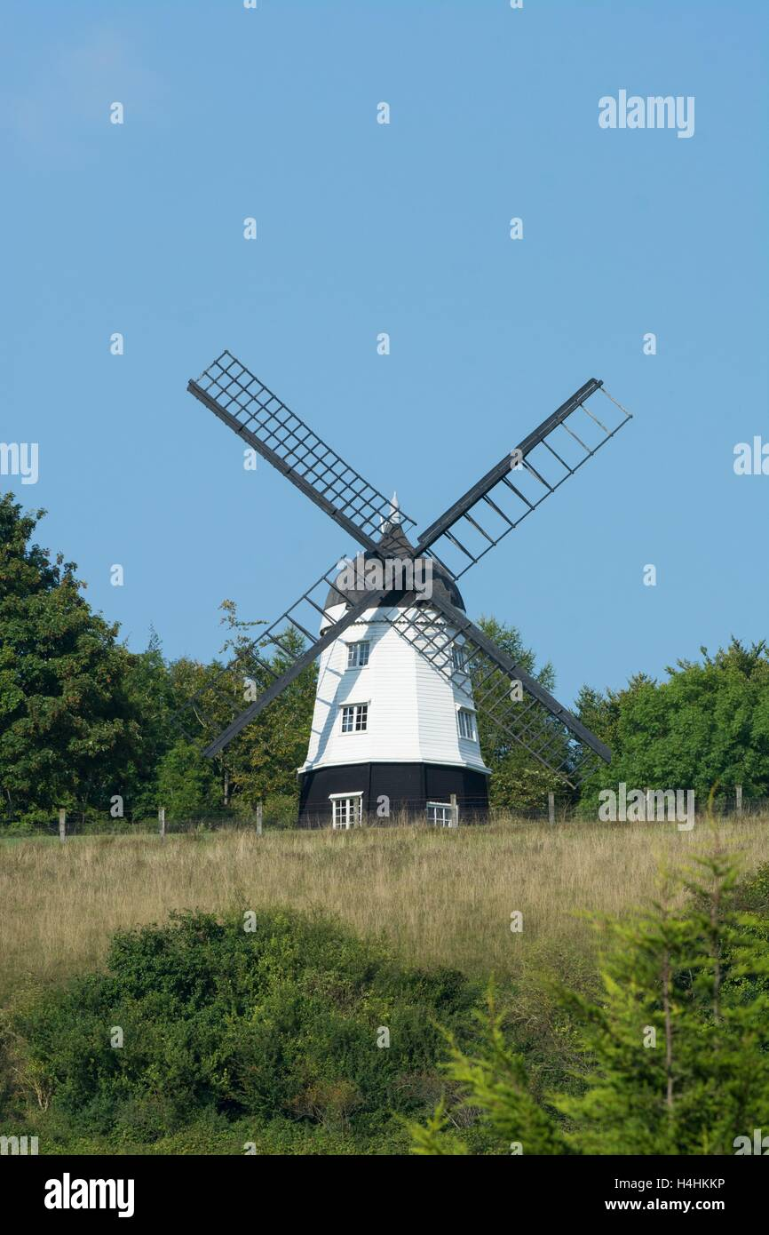 Cobstone windmill above Turville Village, The Chilterns, Buckinghamshire. - Stock Image