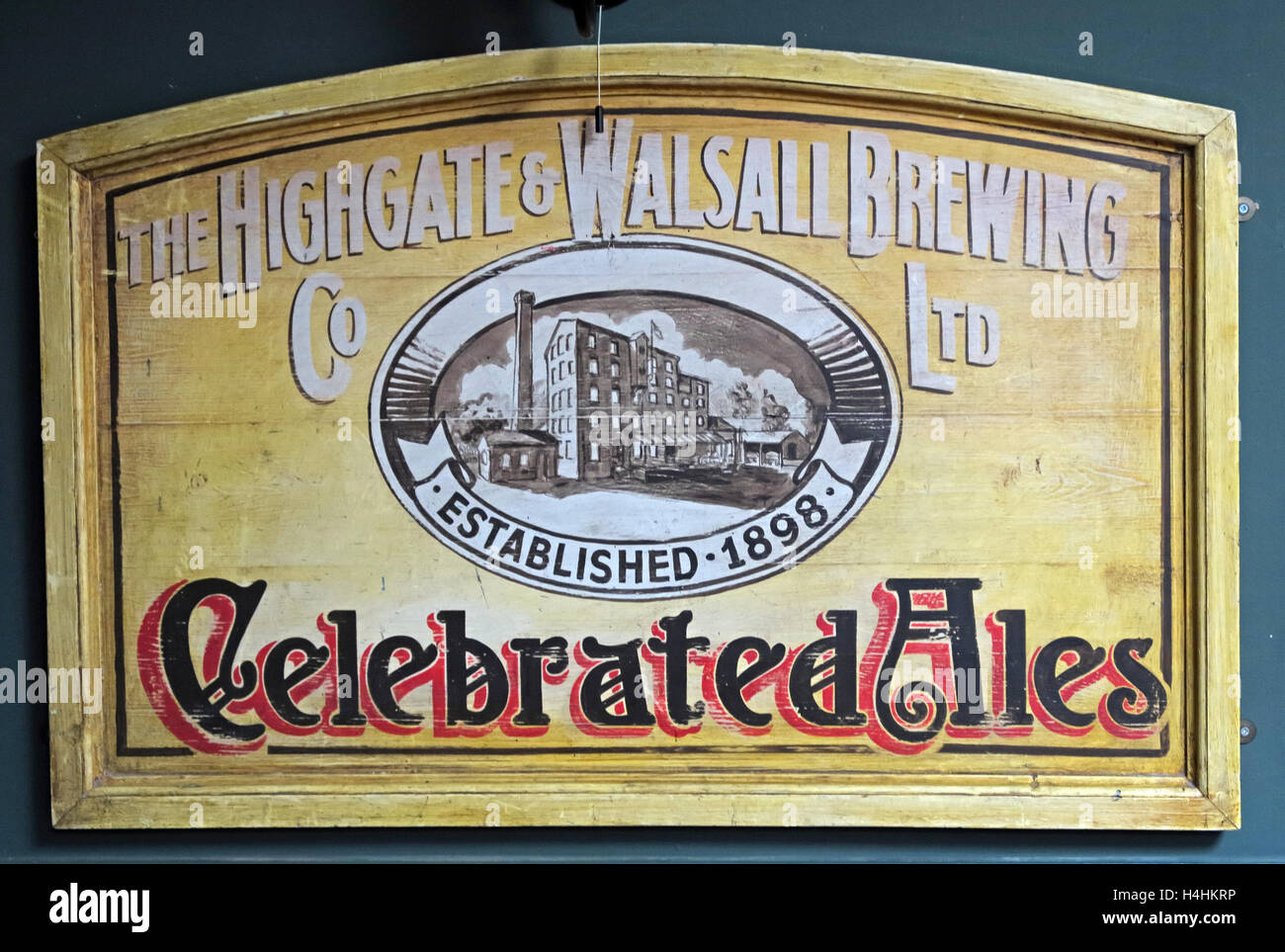 Highgate & Walsall Brewing Co Ltd,Celebrated Ales,West Midlands,England,UK - Stock Image