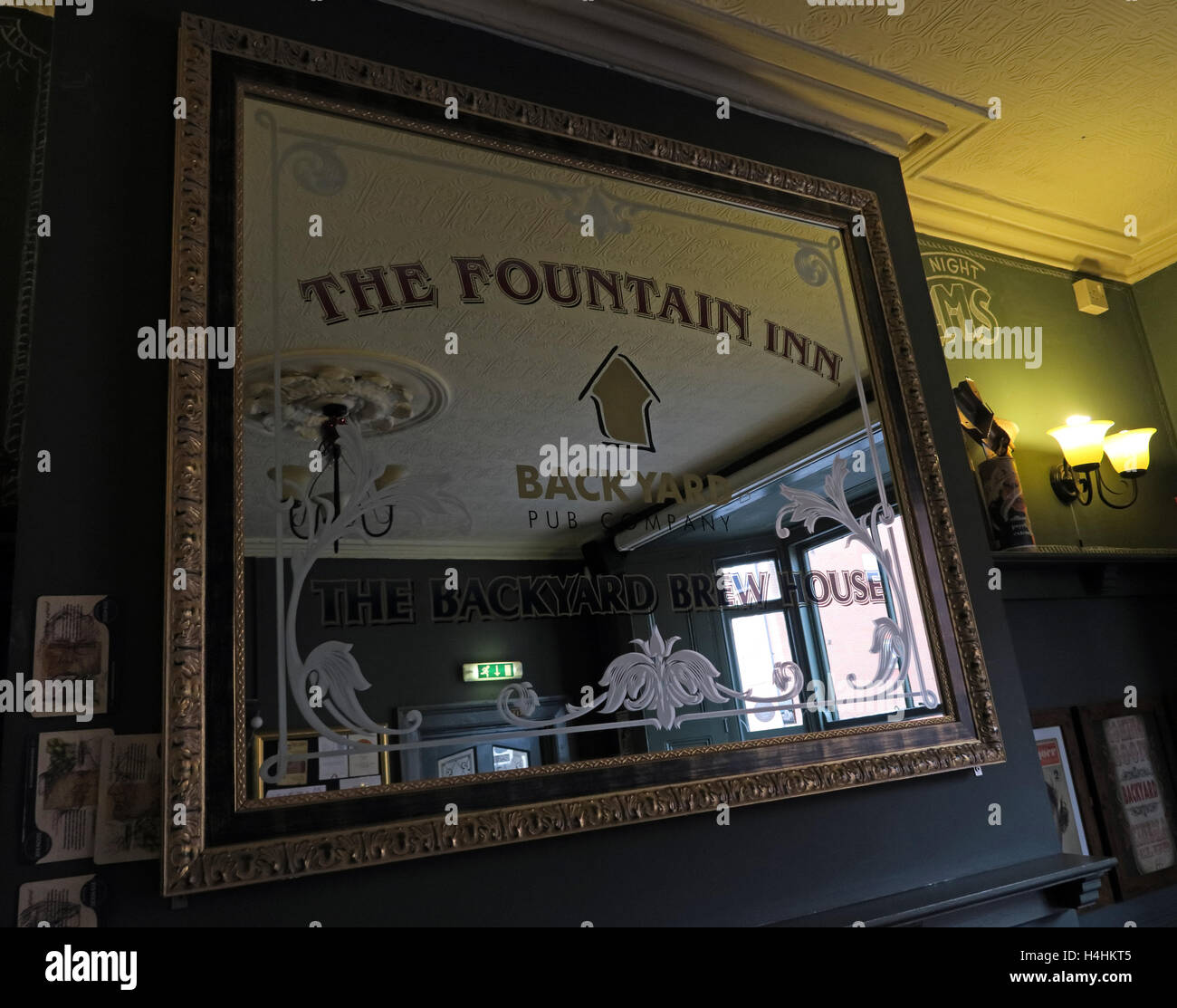Fountain Inn Mirror,Backhouse Brewing,Walsall,England Stock Photo