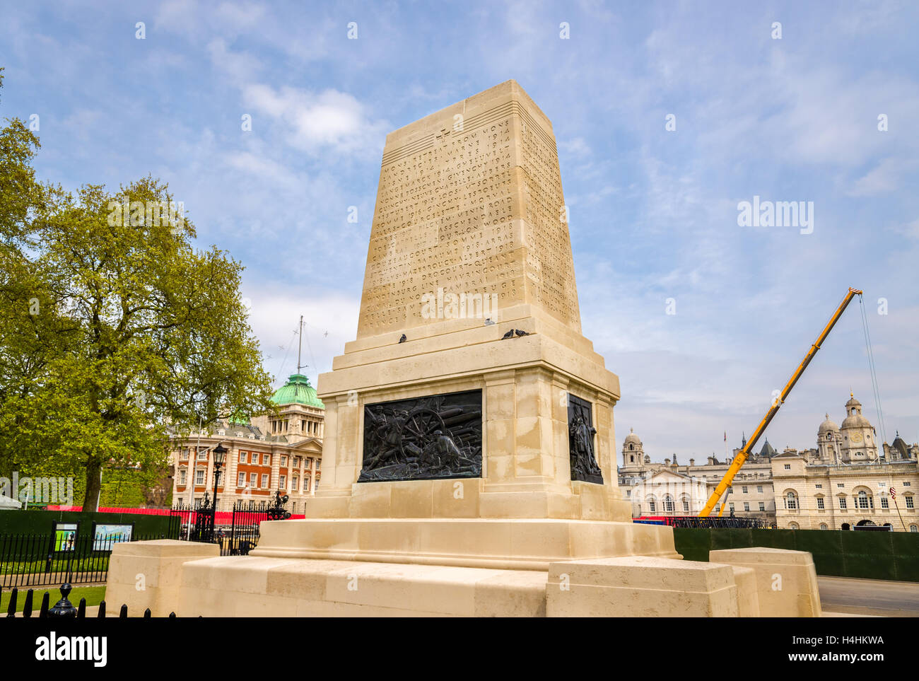 Guards Memorial dedicated to the five Foot Guards regiments of the Great War Stock Photo