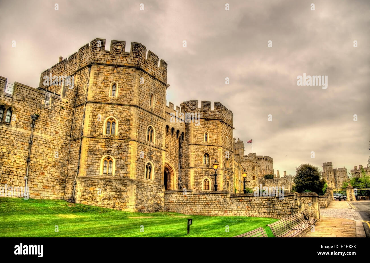 Gate of Windsor Castle - England, Great Britain - Stock Image