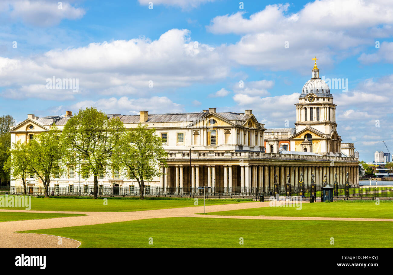 View of the National Maritime Museum in Greenwich, London - Stock Image