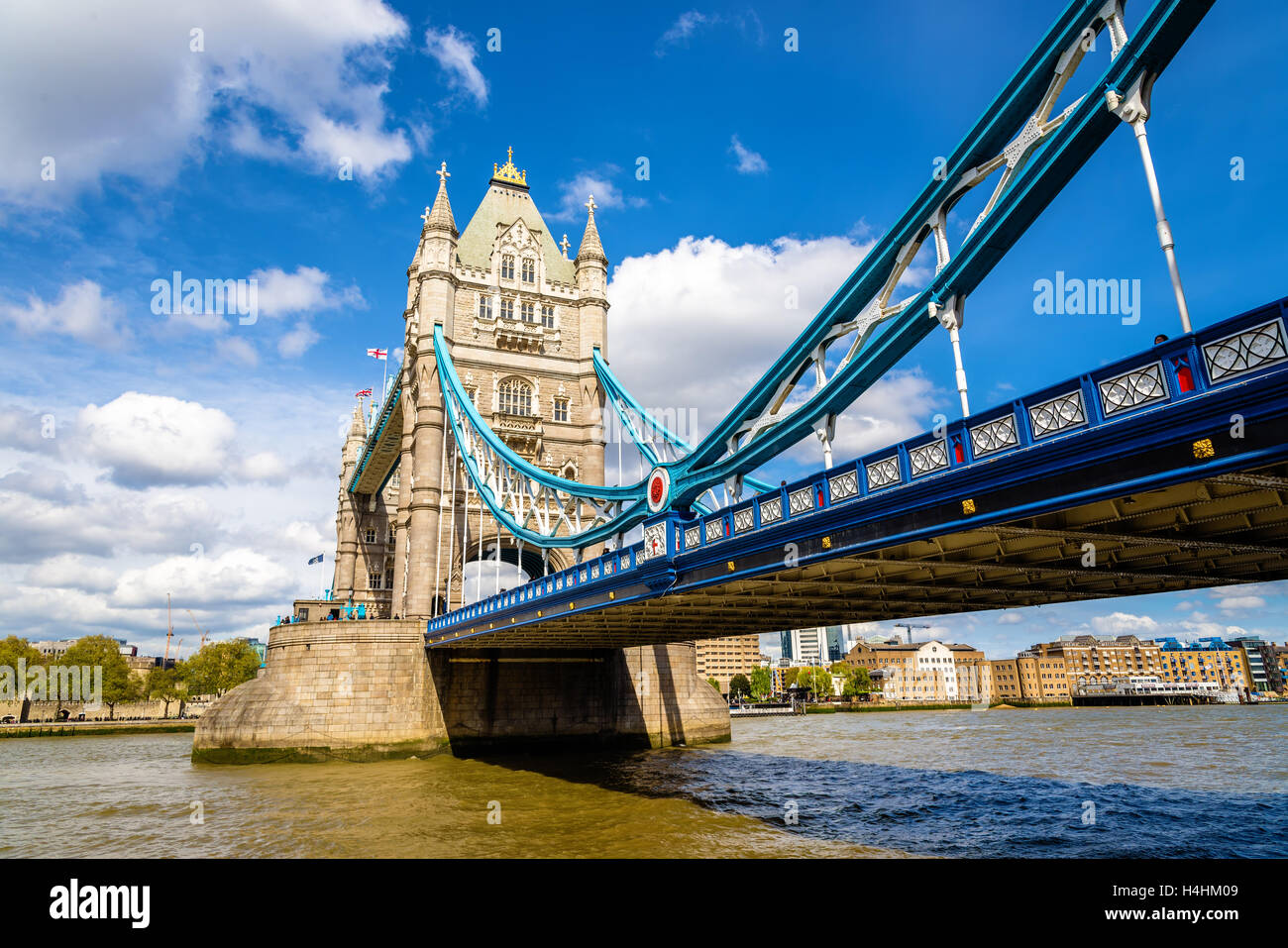 Tower Bridge, a symbol of London - England - Stock Image