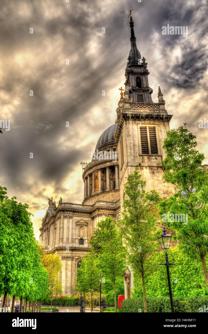 St Augustine Watling Street, a church in London - England - Stock Image