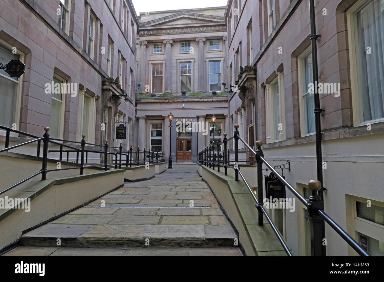 Queen Insurance Buildings,Queen avenue,Castle St,Liverpool,England,UK - Stock Image