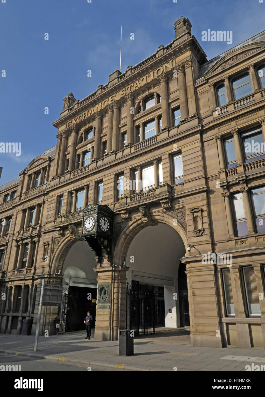 Exchange Rail Station building,Liverpool,England,UK - Stock Image