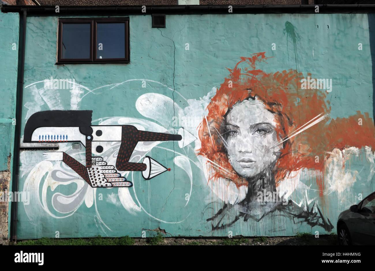 Graffiti Art Smithfield/Tithebarn St,Liverpool,England,UK - Stock Image