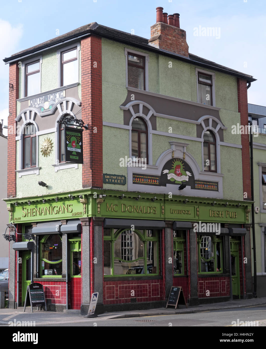 Shenanigans Pub,McDonalds Alehouse,Smithfield St,Liverpool,Merseyside, UK Stock Photo