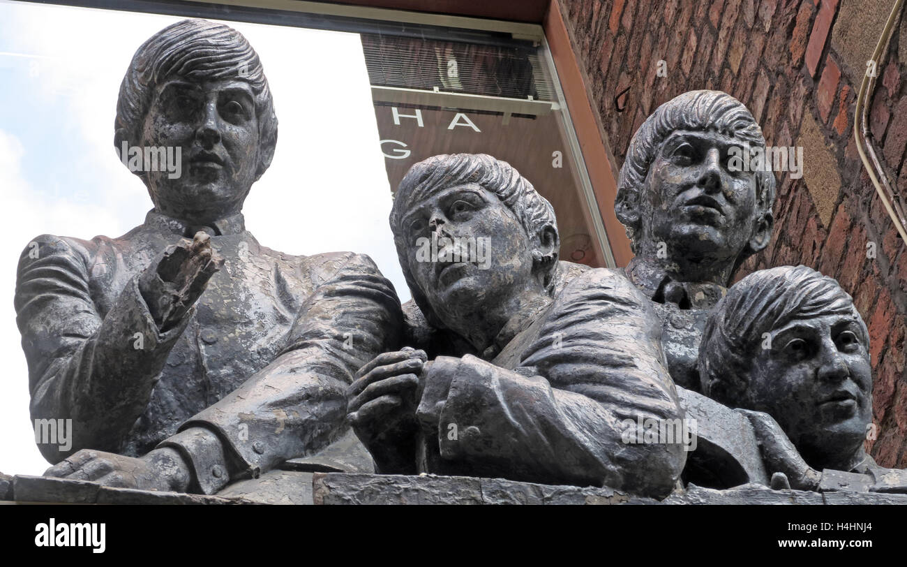 Beatles Store,Mathew Street,Beatles Cavern walks,Liverpool,Merseyside,England - Stock Image