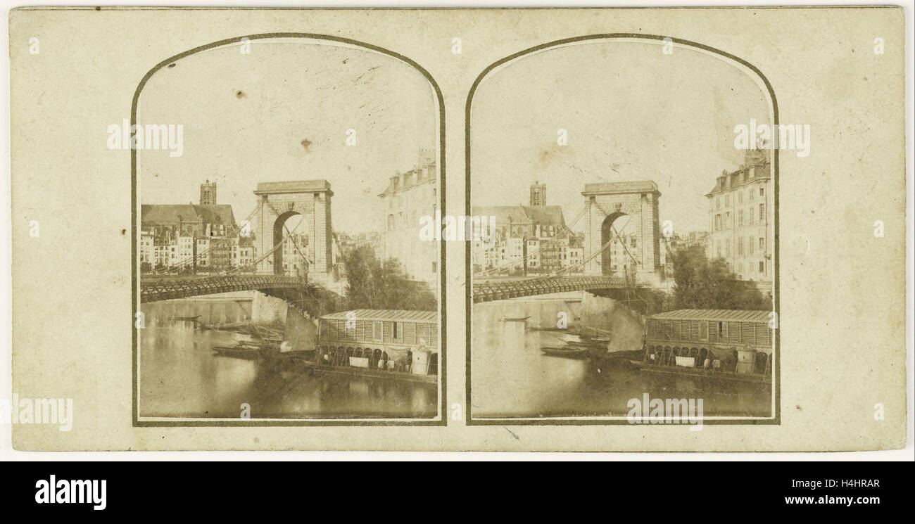 Pont Louis Philippe Paris, France, Anonymous, c. 1855 - c. 1860 - Stock Image