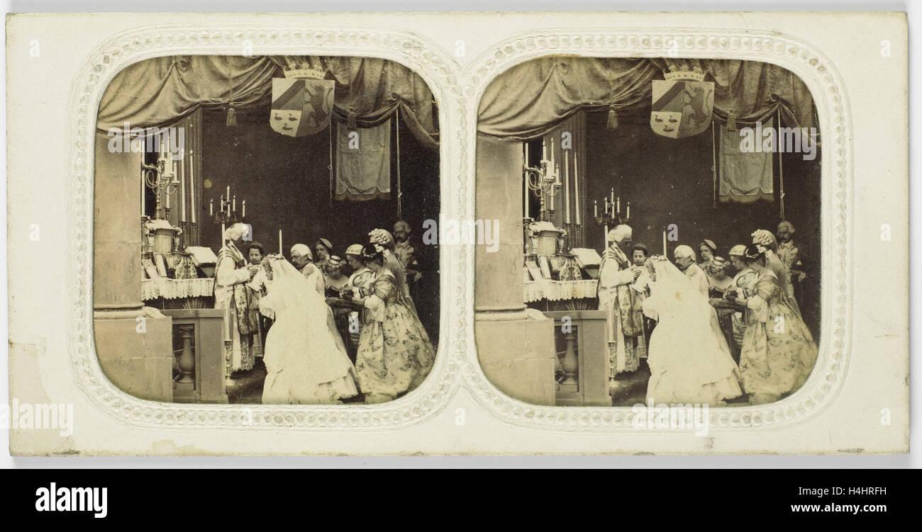 Le Mariage Religieux, no. 8. Charles Paul Furne, Henri Tournier, 1859 - Stock Image
