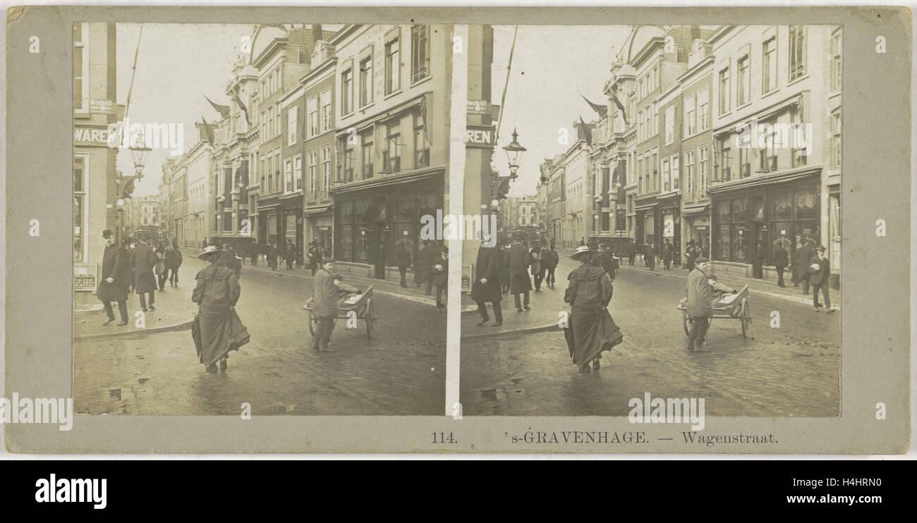 s Gravenhage Wagenstraat, The Netherlands, Anonymous, 1890 - 1910 - Stock Image