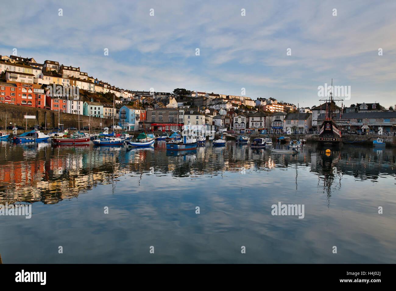 Brixham; Harbour; Devon; UK - Stock Image