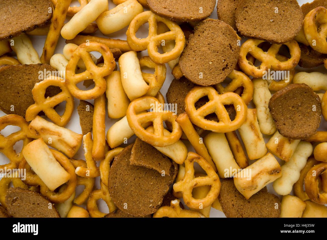 Mixed Snack Mix Pretzel Bread Sticks