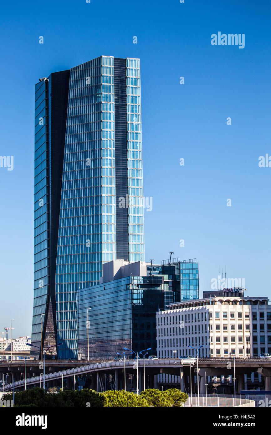 Marseille : CGM Tower - Stock Image