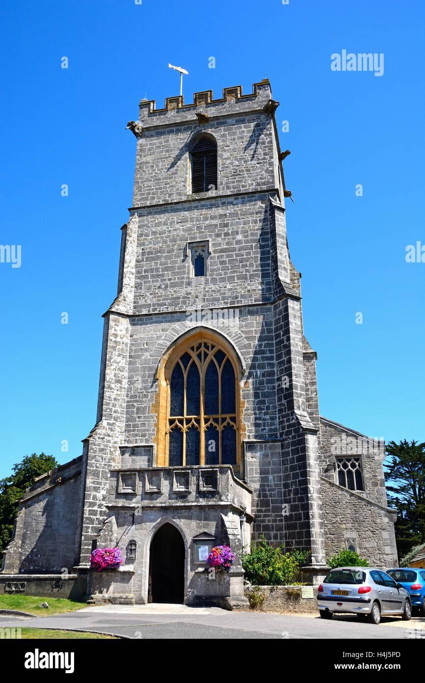 Front of the Lady St Mary church, Wareham, Dorset, England, UK, Western Europe. - Stock Image