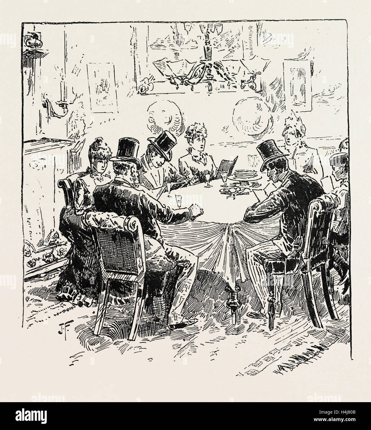 PASSOVER EVE, THE 'SEDER' SERVICE, 1889 - Stock Image
