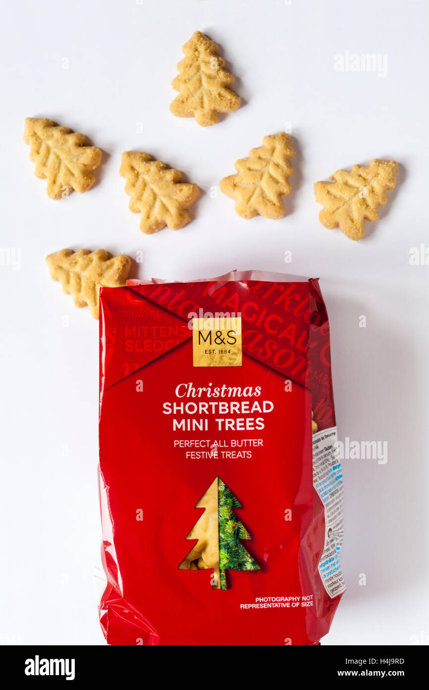 Packet Of M S Christmas Shortbread Mini Trees Perfect All Butter