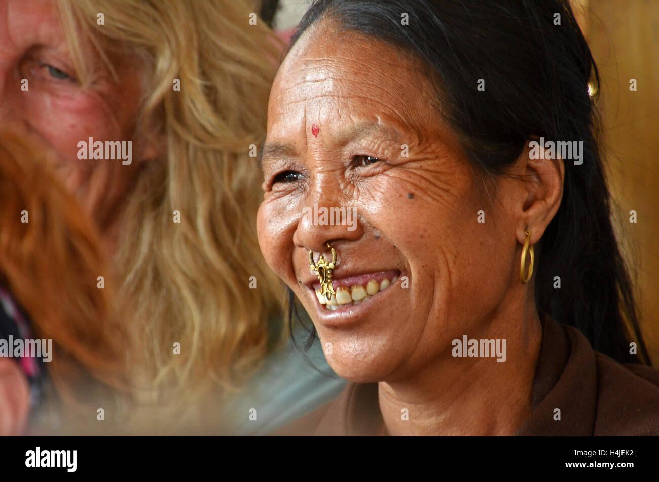 Dalit (untouchable) woman in the village of Tamakhani, Solukhumbu, Nepal - Stock Image